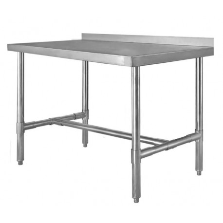 HBST2424 H Frame Table w/Backsplash