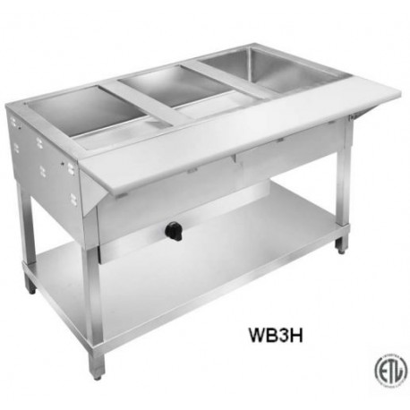 Five Hole Gas Steam Table