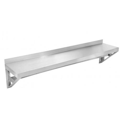 Stainless Wall Shelf Pot Rack, 12x96